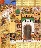 "The Shahnameh or Shah-nama (Persian: شاهنامه Šāhnāmeh, ""The Book of Kings"") is a long epic poem written by the Persian poet Ferdowsi between c.977 and 1010 CE and is the national epic of Iran and related Perso-Iranian cultures. Consisting of some 60,000 verses, the Shahnameh tells the mythical and to some extent the historical past of Greater Iran from the creation of the world until the Islamic conquest of Persia in the 7th century.<br/><br/>  The work is of central importance in Persian culture, regarded as a literary masterpiece, and definitive of ethno-national cultural identity of Iran. It is also important to the contemporary adherents of Zoroastrianism, in that it traces the historical links between the beginnings of the religion with the death of the last Zoroastrian ruler of Persia during the Muslim conquest."